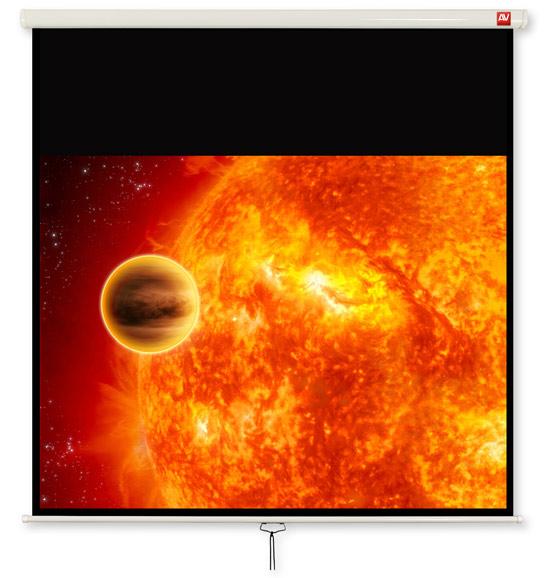 AVTEK Video 200 projection area 195x146,5cm 4:3 Matt-White black borders