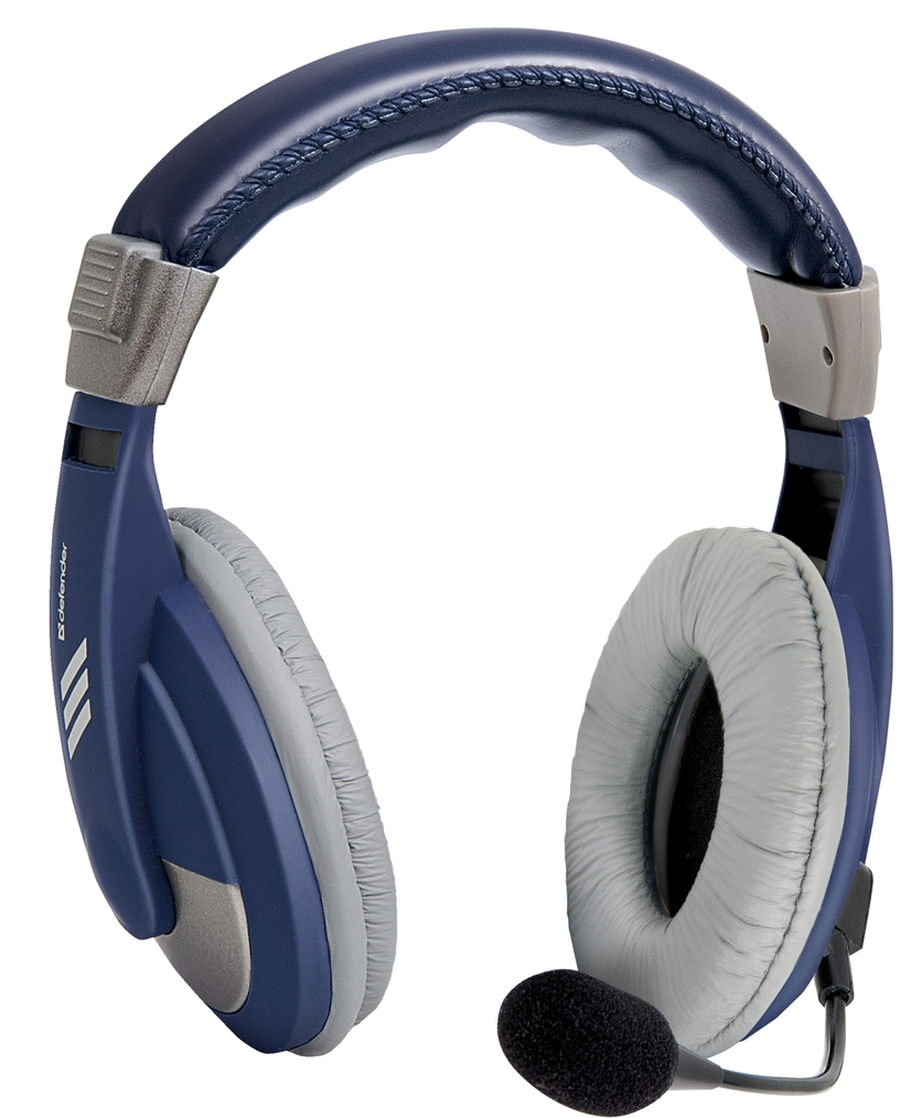 DEFENDER Headset for PC Gryphon 750 blue, cable 2 m