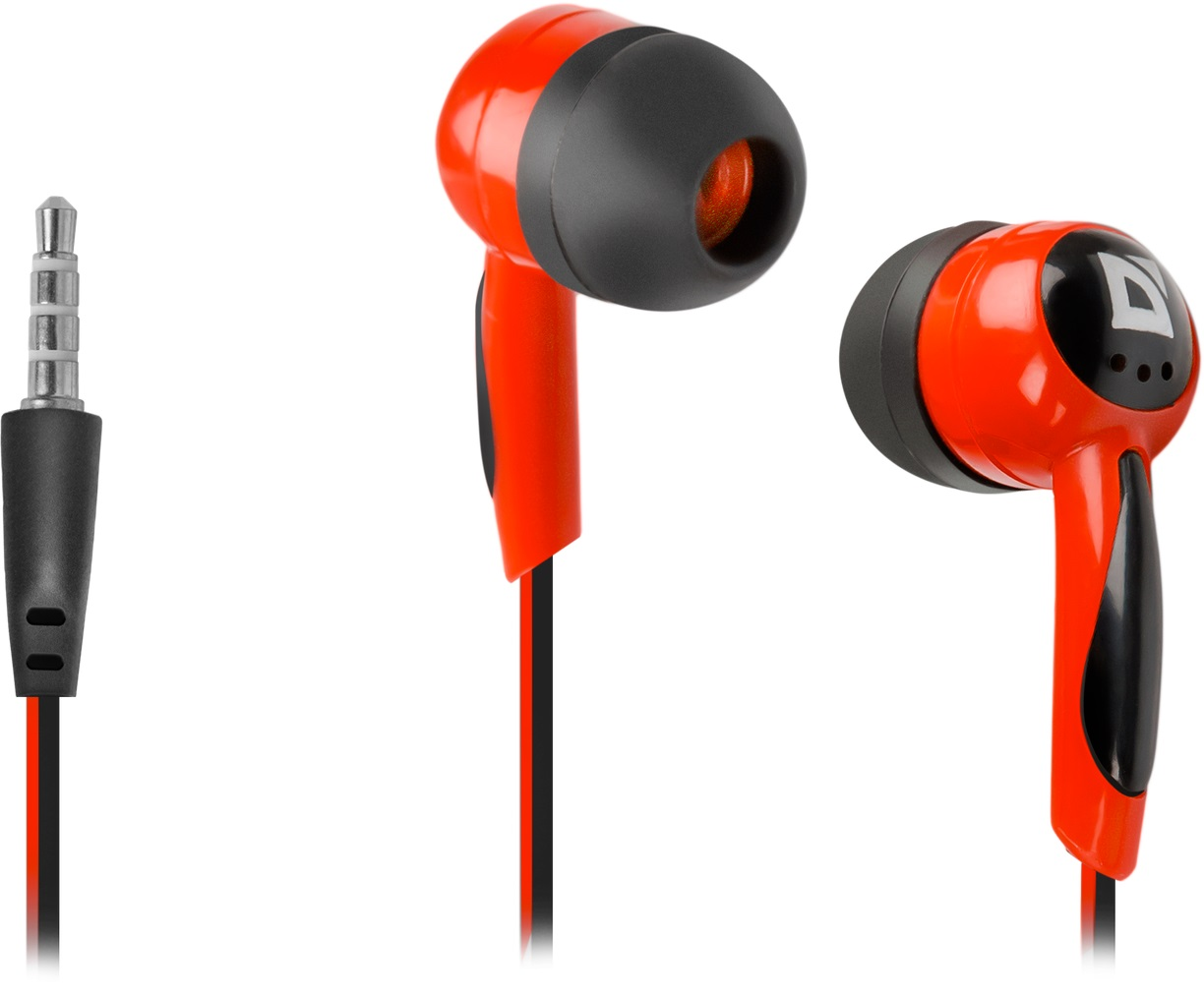 DEFENDER In-ear headphones Basic 604 black + red