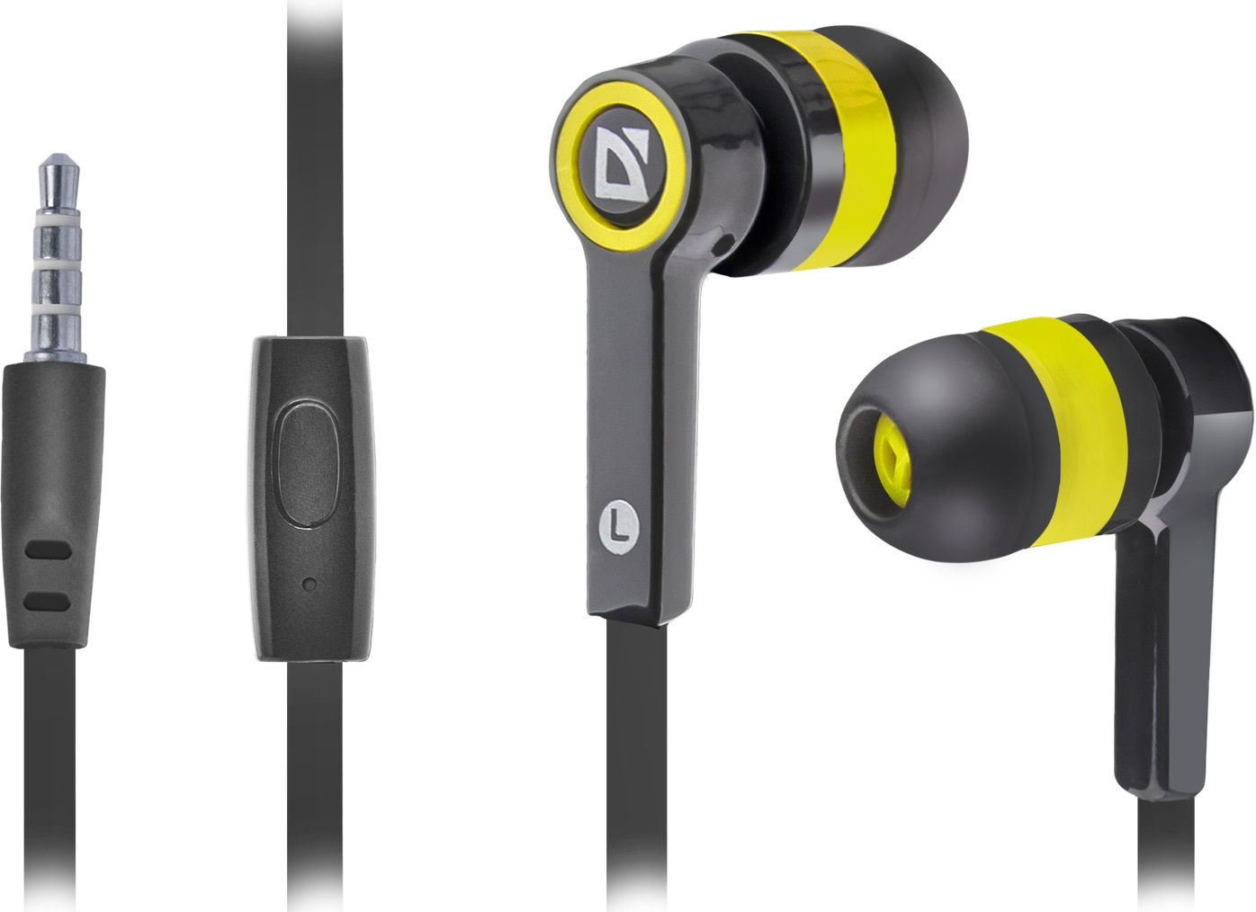 DEFENDER Headset for mobile devices Pulse 420 black + yellow in-ear