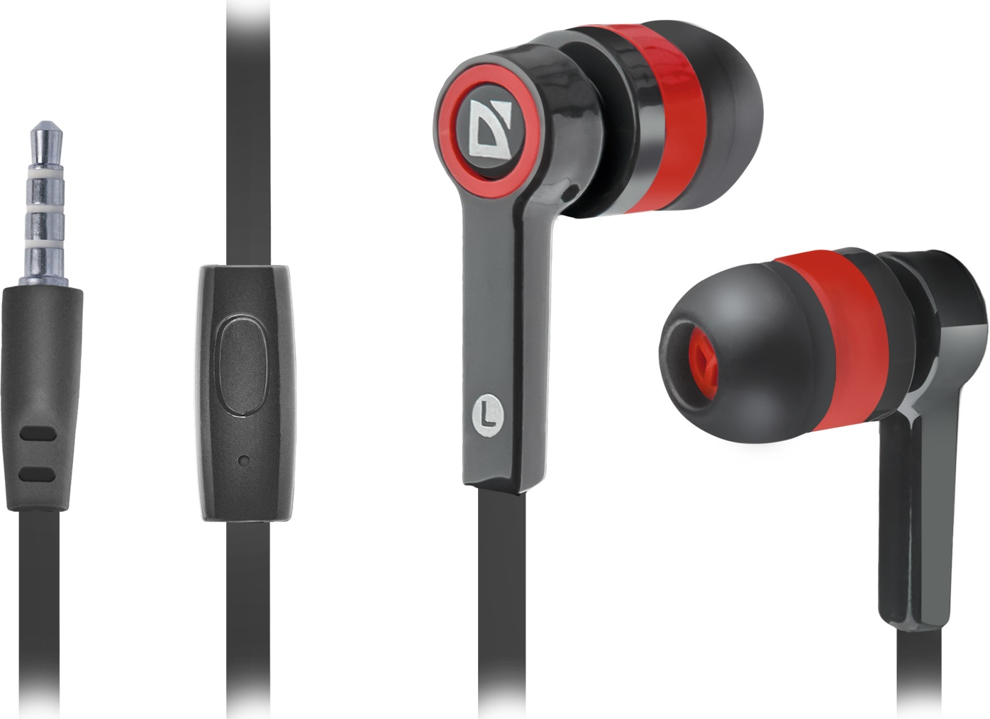 DEFENDER Headset for mobile devices Pulse 420 black + red in-ear