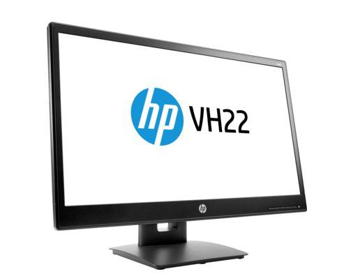 HP VH22 monitor 21.5in FHD 5000000:1 170 160 250 5ms VGA+DVI+DisplayPort Pivot Height VESA