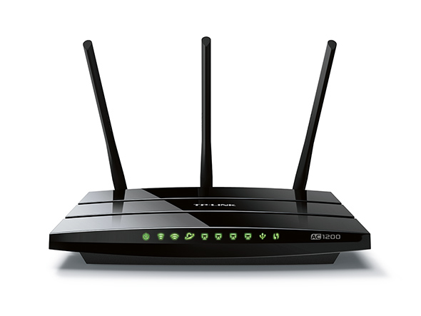 TP-LINK AC1200 Dual Band Wireless Gigabit Router Broadcom 867Mbps at 5GHz + 300Mbps at 2.4GHz 802.11ac a b g n Beamforming 1 Gigabit