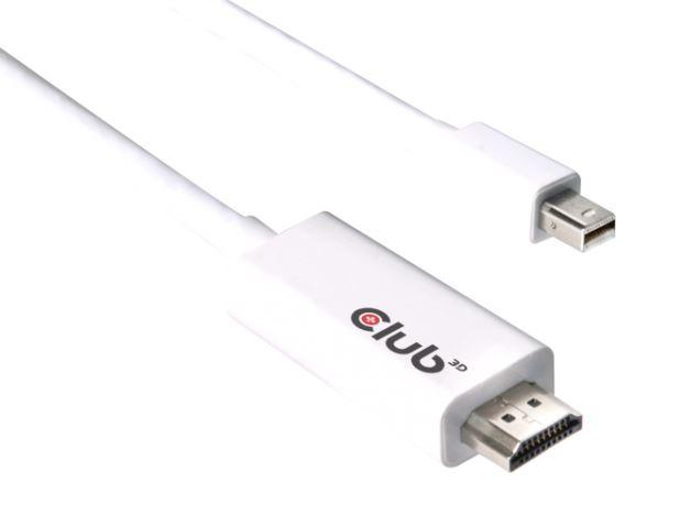CLUB 3D MINI DISPLAYPORT>HDMI2.0 4K60Hz 3M