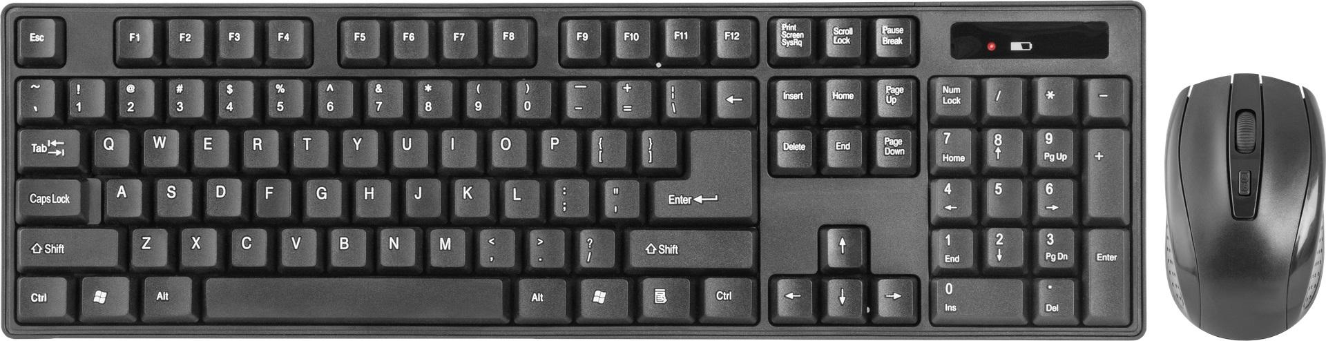 DEFENDER C-915 wireless keyboard RU black full-sized