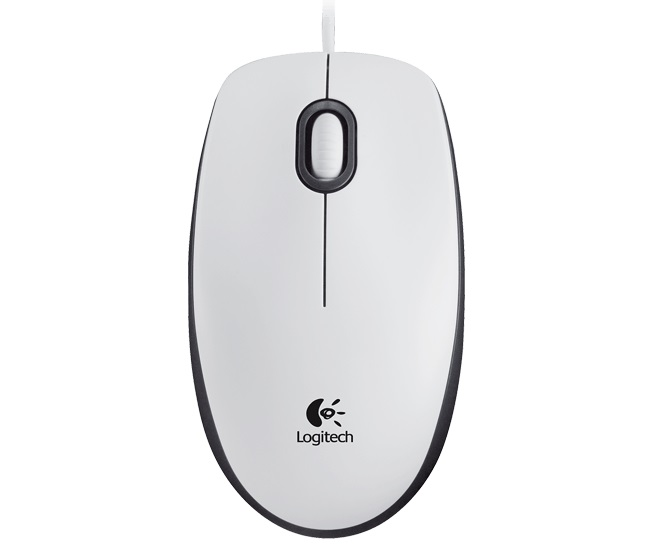 LOGITECH M100 Mouse White USB - EMEA