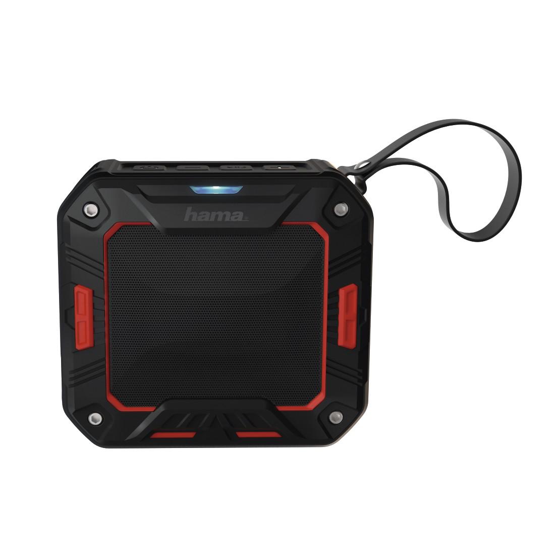 HAMA Rockman-S Mobile Bluetooth Speaker black red