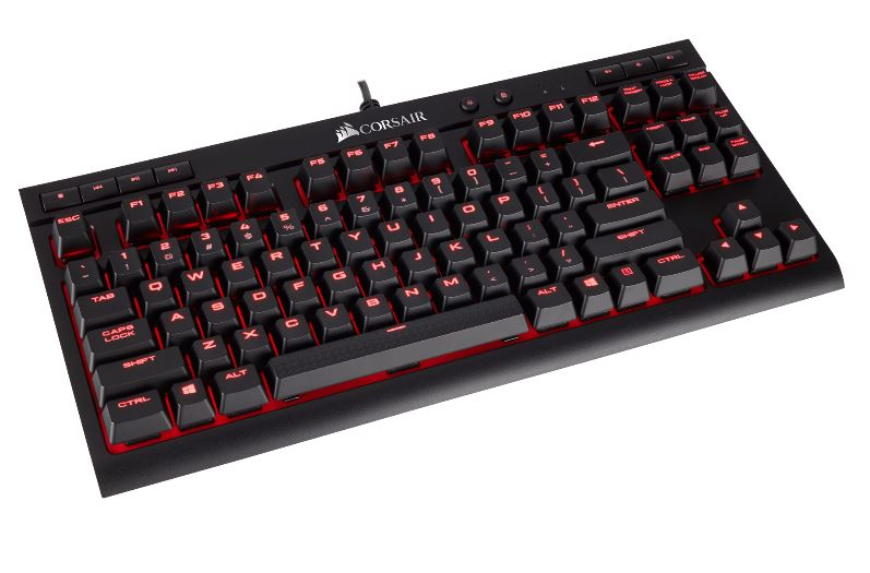 CORSAIR Gaming K63 Compact Mechanical Keyboard Backlit Red LED Cherry MX Red US