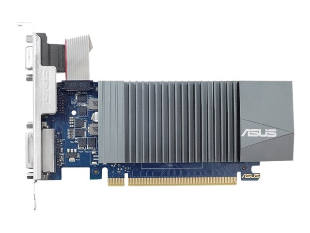 ASUS GT710-SL-1GD5-BRK GeForce GT 710 1GB DDR5 low profile graphics card for silent HTPC build (with I O port brackets)