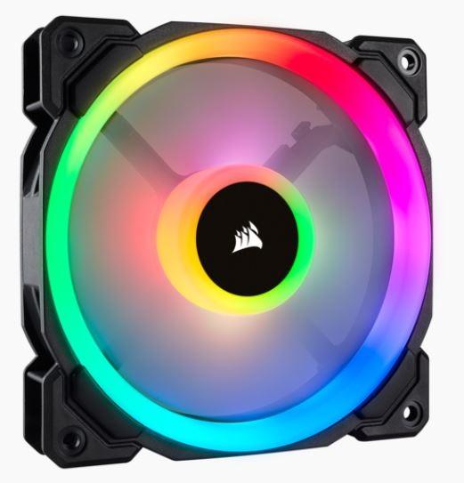 CORSAIR Fan LL120 RGB 120mm Dual Light Loop RGB LED PWM Fan Single pack
