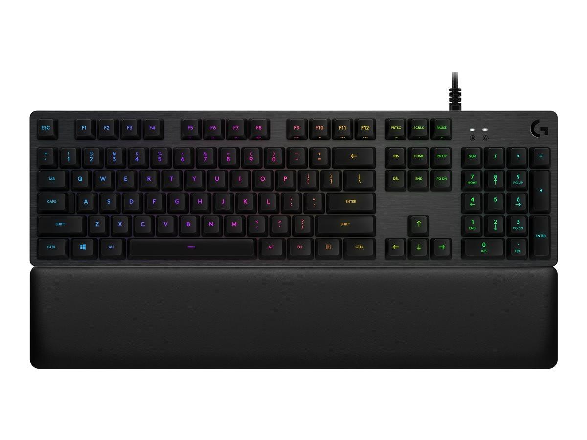 LOGITECH G513 Silver RGB Mechanical Gaming Keyboard - CARBON - USB - G513 LINEAR SWITCH (US) INTNL