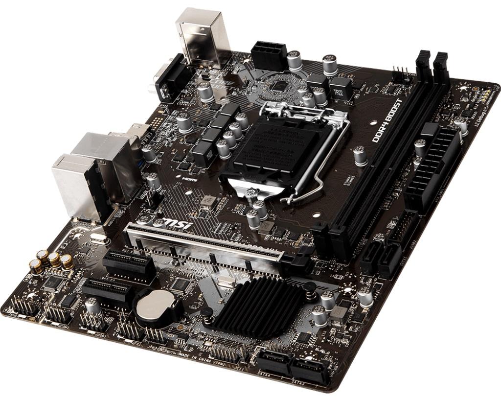 MSI H310M PRO-VH LGA 1151 mATX 2xDDR4 32GB 2xPCI-Ex HDMI 4xSATAIII