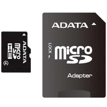 ADATA 8GB MicroSDHC Karte Class 4 + Adapter