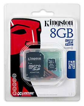 KINGSTON MicroSD HCCard 8GB SDcard 2.0 SDHC highspeed class 4