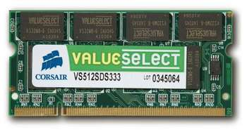 CORSAIR DDR2 667 MHz 2GB 200 SODIMM Unbuffered CL5